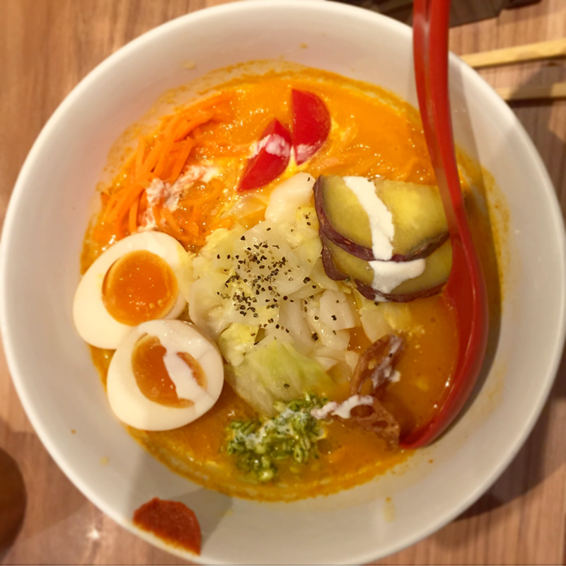 Veggie Soba at Sora No Iro, Tokyo Station