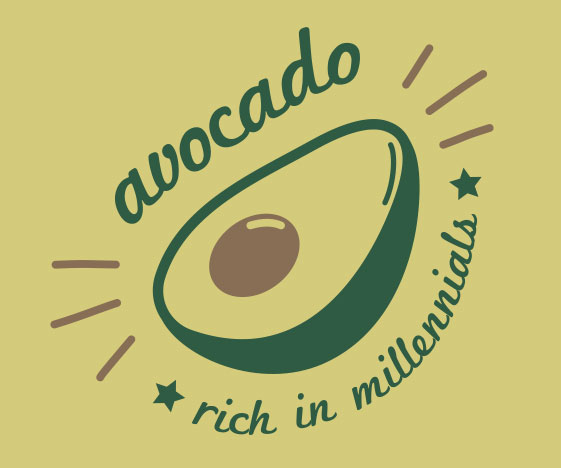 Avocado: Rich In Millennials T-Shirt