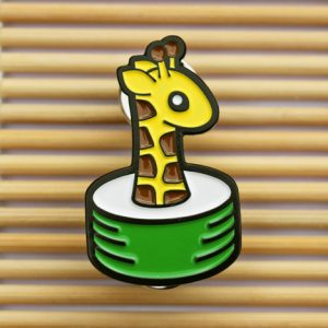 Giraffe Sushi Enamel Pin