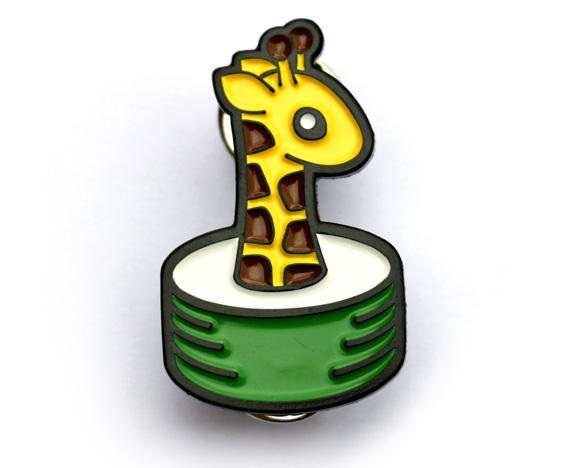 Cute Giraffe Pin Badge