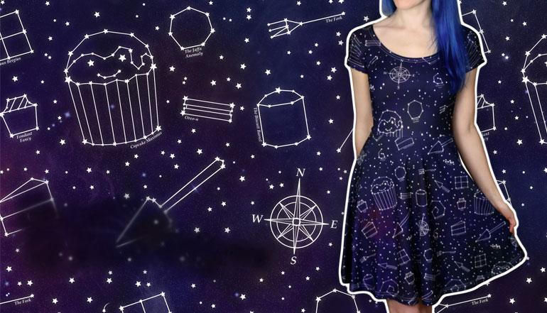 Galaxy Skater Dress for Women