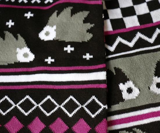 Hedgehog Knitted Scarf