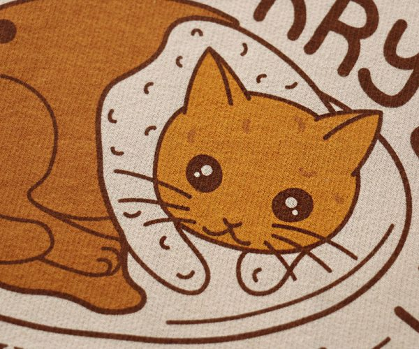 Cute Katsu Curry Cat Hoody