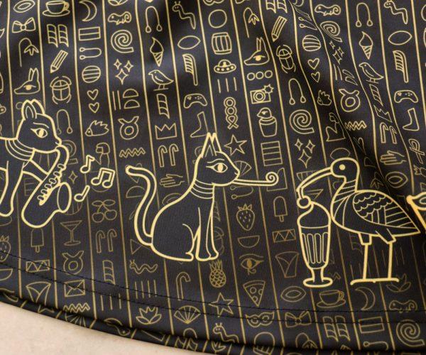 Border Print Egypt Dress