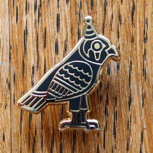 Ancient Egyptian Hawk Pin Badge