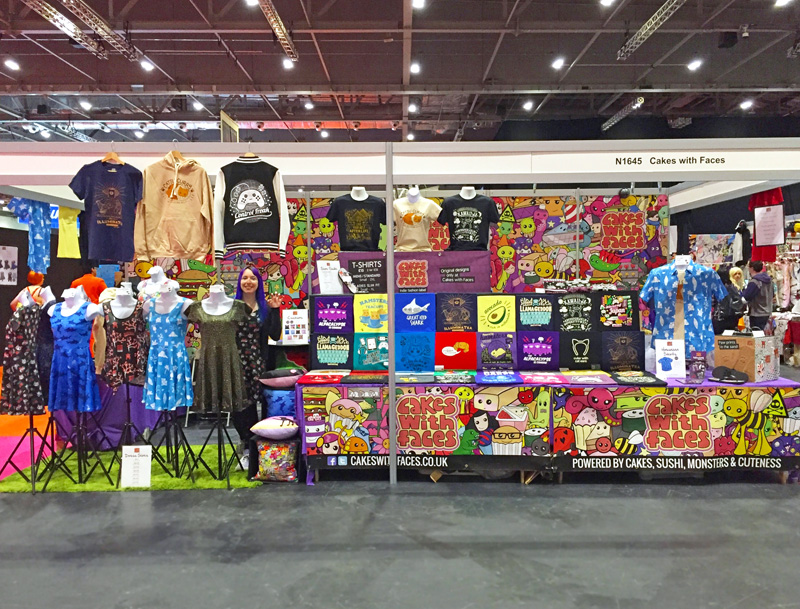 Cakes with Faces Stall at MCM London Comic Con