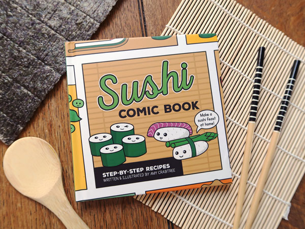 Cakes with Faces Sushi Comic Book