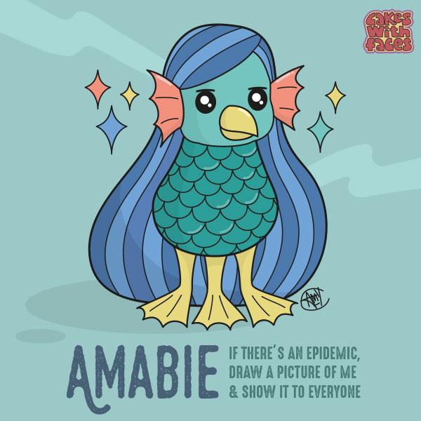 Amabie (Japanese Yokai)