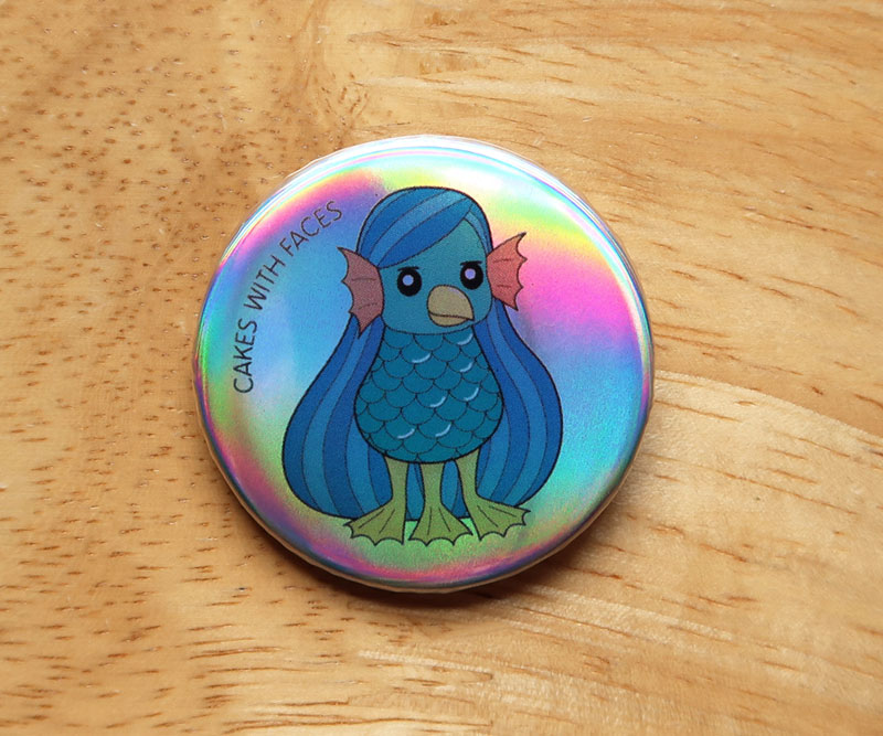 Japanese Amabie Pin Badge
