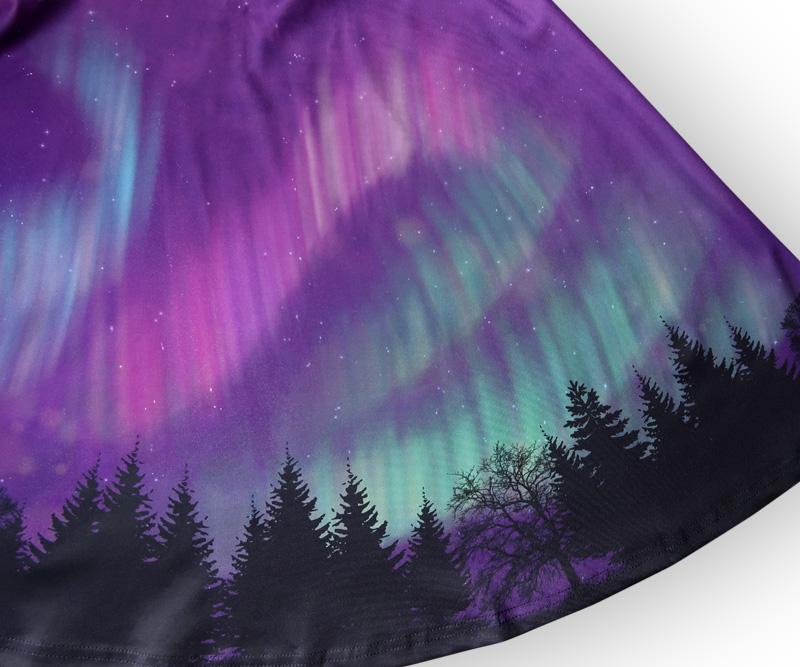 Northern Lights Night Sky Dress