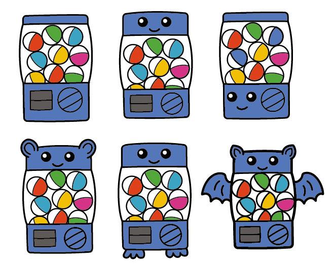 Gachapon Character Designs