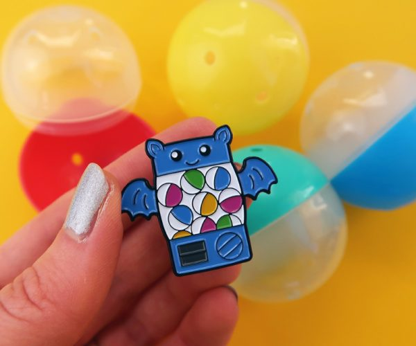 Colourful Bat Gachapon Pin