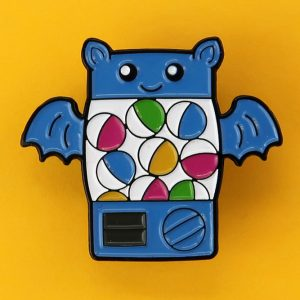 Bat Gachapon Enamel Pin