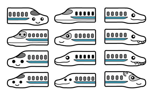 Shinkansen character designs