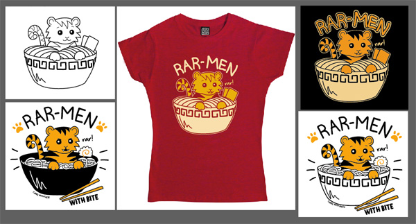 Rar-men T-Shirt Designs