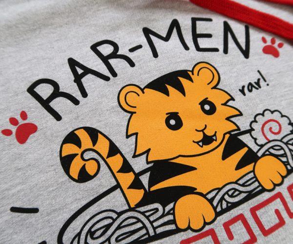 Rar-men Tiger Hoodie Close-up