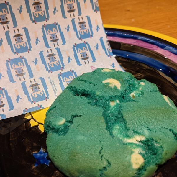 Blue Hatsune Miku Cookie