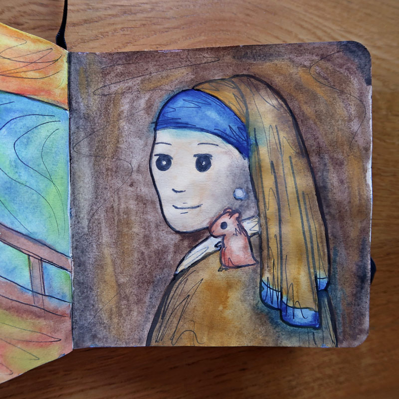 Girl with a Pearl Earring (and a Hamster)