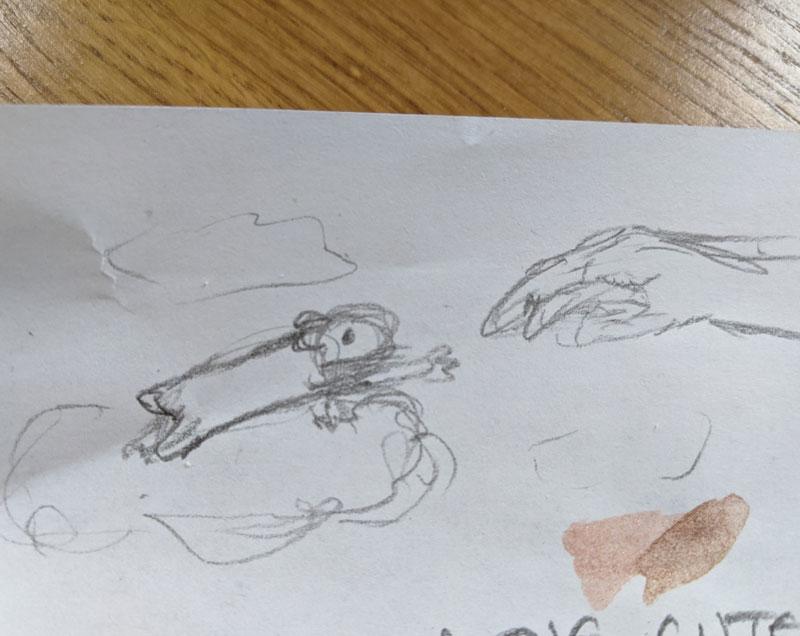 Hamster Sistine Chapel Sketch