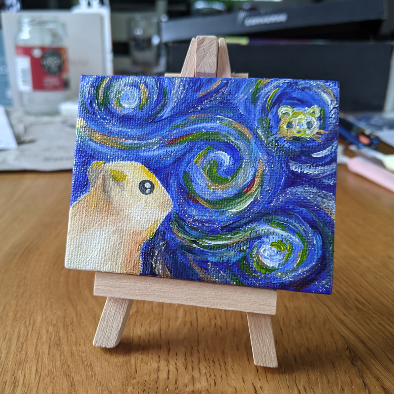Hamster Starry Night