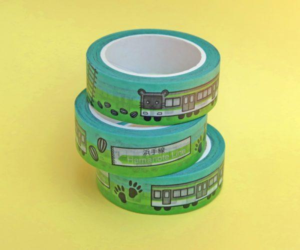 Cute Hamster Train Washi Tape