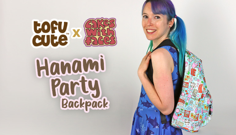 Tofu Cute x Cakes with Faces Hanami Party Backpack