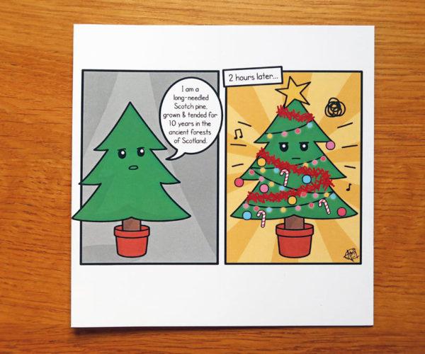Cartoon Christmas Greetings Card